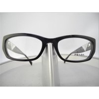 51b36f494f Product Image Like New Prada VPR 10O-A 1AB-1O1 Black Plastic Eyeglasses 52mm