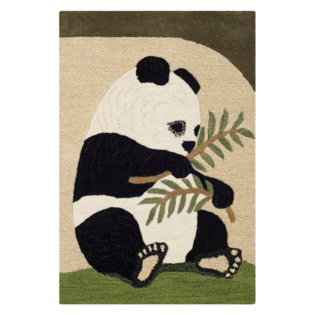 Wilderness Area Map (Safavieh Wilderness Andrea Panda Graphic Print Area Rug or Runner )