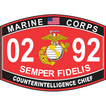 38 Inch Counterintelligence Chief Marine Corps Mos 0292 Usmc - Usmc-counter-intel