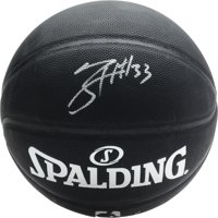 Tobias Harris Philadelphia 76ers Autographed Black Spalding Indoor/Outdoor Basketball - Fanatics Authentic Certified