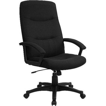 upholstered executive high back swivel office chair