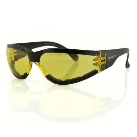 Bobster Eyewear, Shield III Sunglasses, Anti-fog Yellow Lens, ANSI Z87 - ESH303