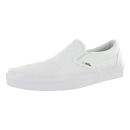 680a6356 vans unisex classic slip-on(tm) core classics true white (canvas) sneaker  men's 10, women's 11.5 medium