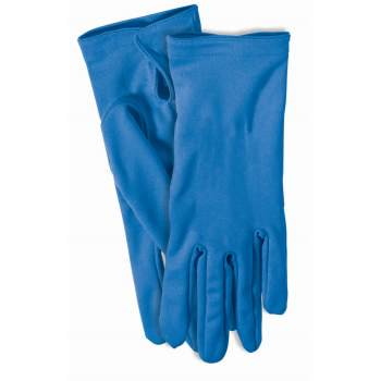 Blue Short Gloves Halloween Costume Accessory - Short Halloween Limericks
