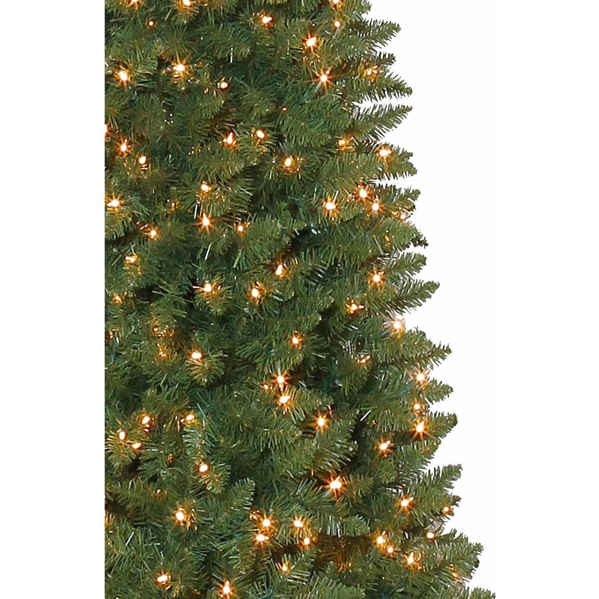 Holiday Time Pre-Lit 12\' Brinkley Pine Artificial Christmas Tree ...
