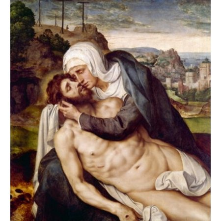 Mourning of Christ by Willem Key (1515-1568) Canvas Art - Willem Key (24 x 36)