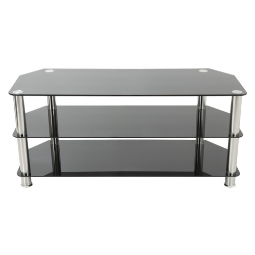 """AVF TV Stand for up to 50"""" TVs, Black Glass, Chrome Legs"""