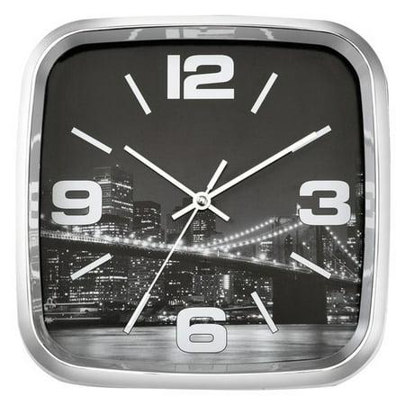 Mainstays 8 75 Quot Chrome Plated Wall Clock Walmart Com