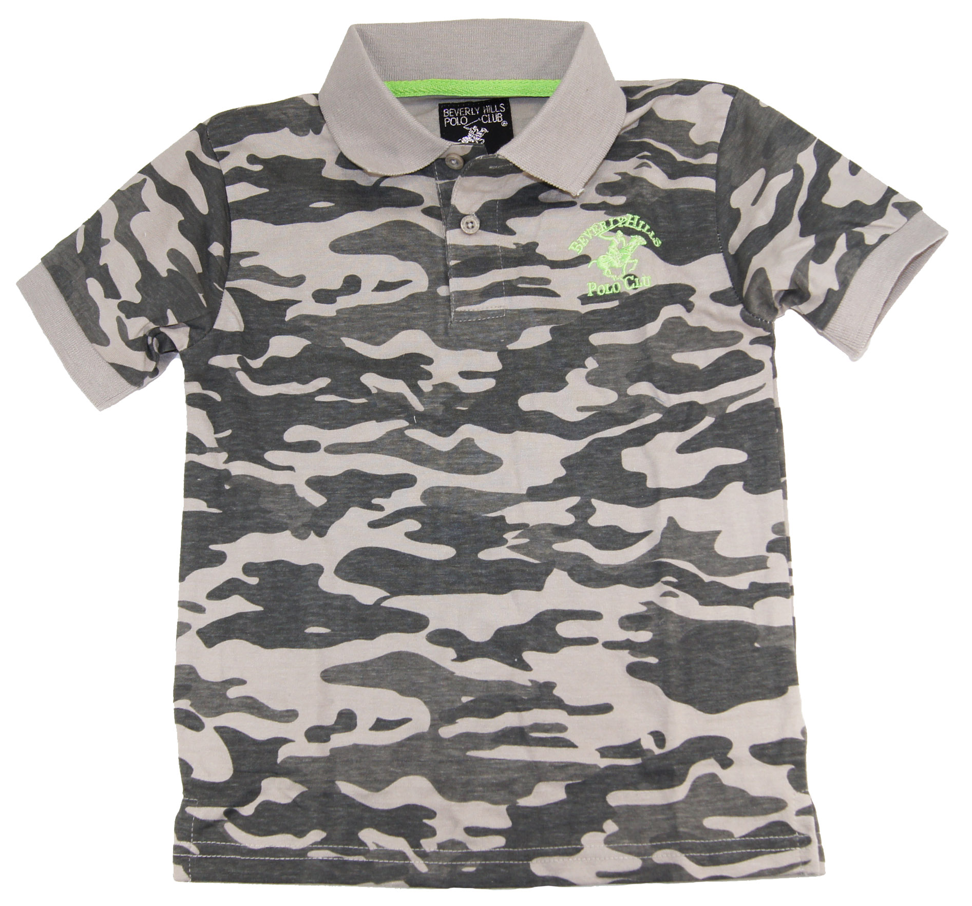 Beverly Hills Polo Club Little Boys' Camo Army Polo Shirt