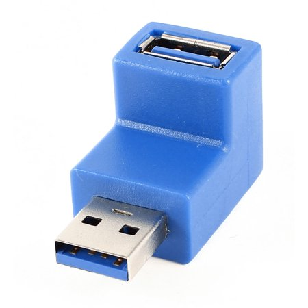 USB 3.0 5Gbps A Male to Female 90 Degree Converter Adapter