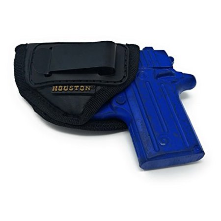 IWB Gun Holster by Houston - ECO LEATHER Concealed Carry Soft Material |  Suede Interior for Maximum Protection | Fits: Most Small 380, Keltec, Ruger