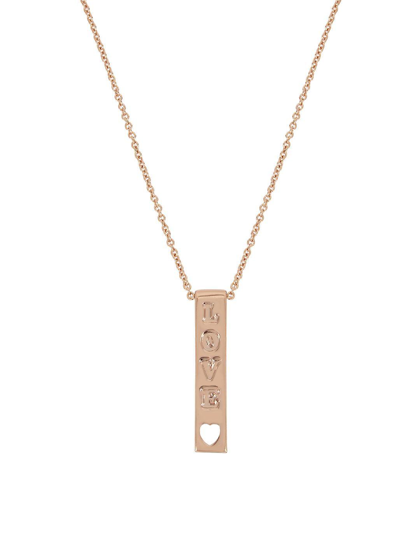 Affirmation Crystal Love Bar Pendant Necklace