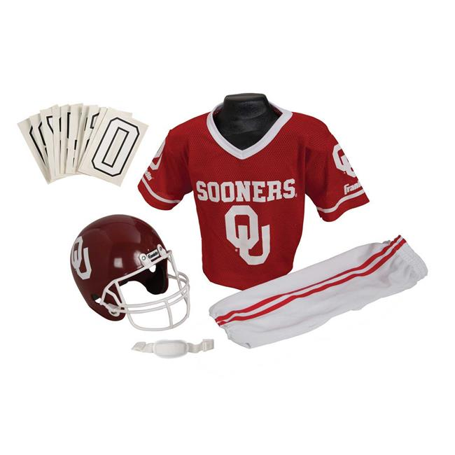 Franklin Sports 15501F35P1Z COL OKLAHOMA Medium Uniform Set