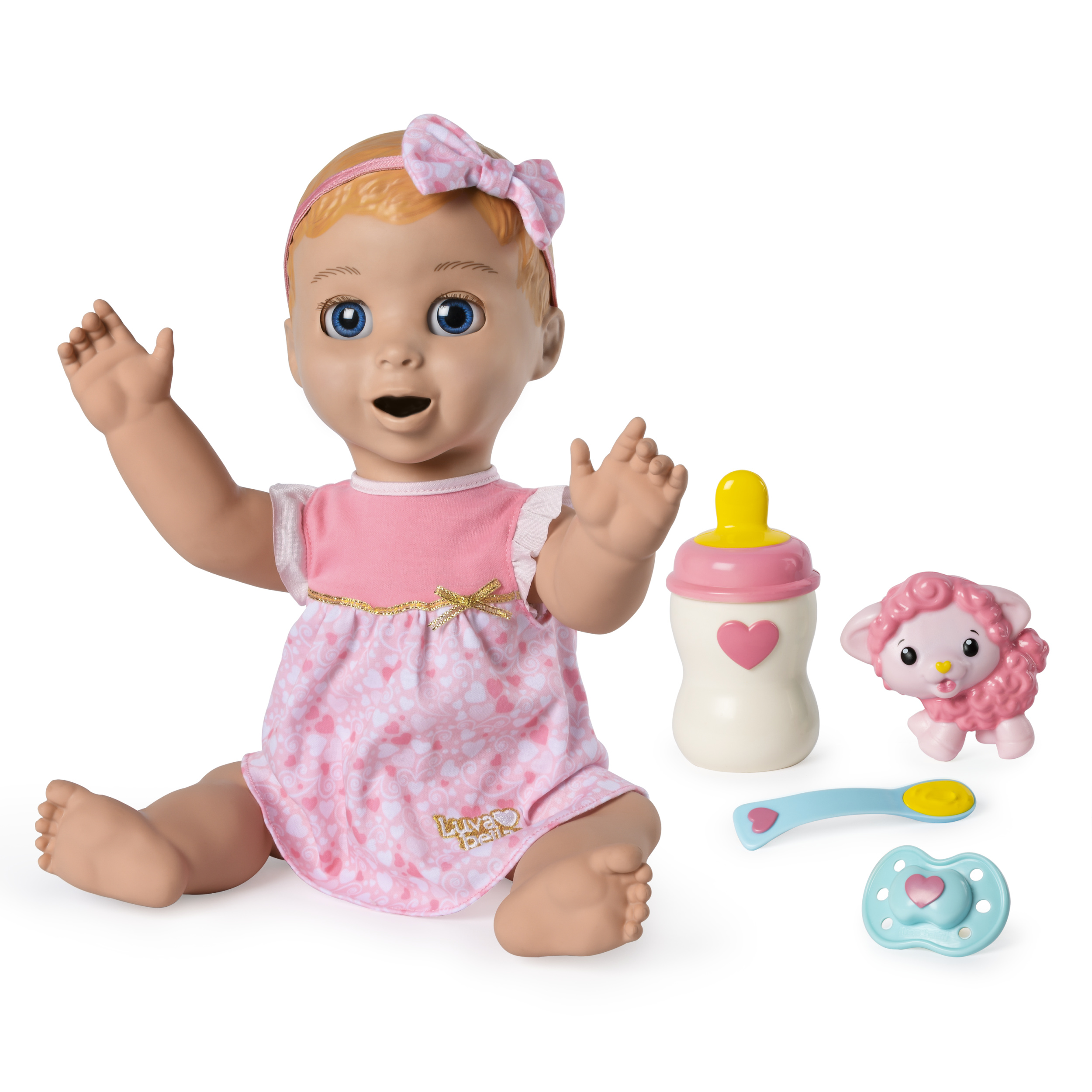 Luvabella Blonde Hair, Responsive Baby Doll with Real Expressions and Movement, for Ages 4 and Up