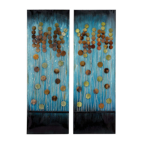Woodland Imports 2 Piece Handcrafted Plaque Wall D cor Set by Overstock