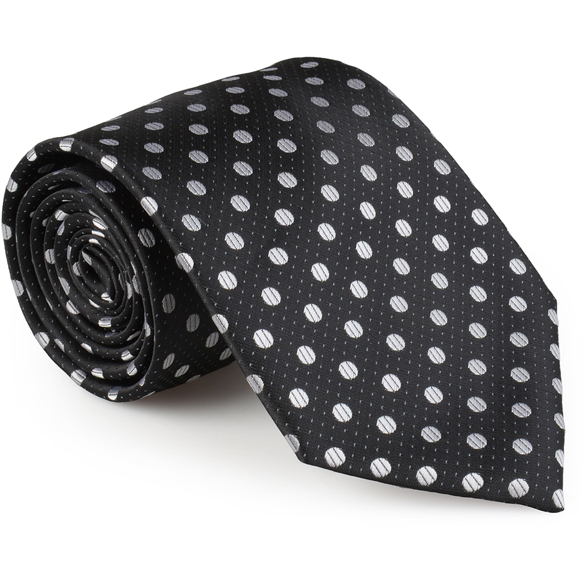 Daxx Mens Microfiber Handmade Polka Dot Tie and Hanky Set