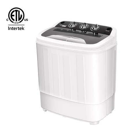 VIVOHOME Electric Portable 2 in 1 Twin Tub Mini Laundry Washer and Dryer Combo Washing Machine with Drain Hose for Apartments 13lbs Capacity ETL (Best Stackable Washer And Dryer For Small Spaces)