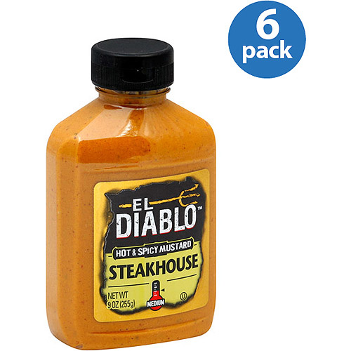 ***Discontinued by Kehe 05/13******Discontinued by Kehe***El Diablo Steakhouse Hot & Spicy Mustard, 9 oz, (Pack of 6)