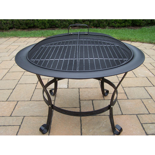 Oakland Living Stainless Steel Wood Fire Pit