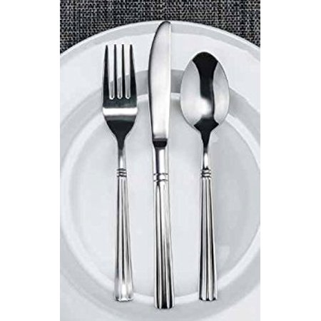 Winco Lafayette 3 Dozen Flatware Set, Extra Heavy 18-0 Stainless Steel Classic Old-Fashioned Dinner Spoons (Dozen Pack), Dinner Forks (Dozen Pack) and Dinner Knives (Dozen Pack), 36-Piece Set