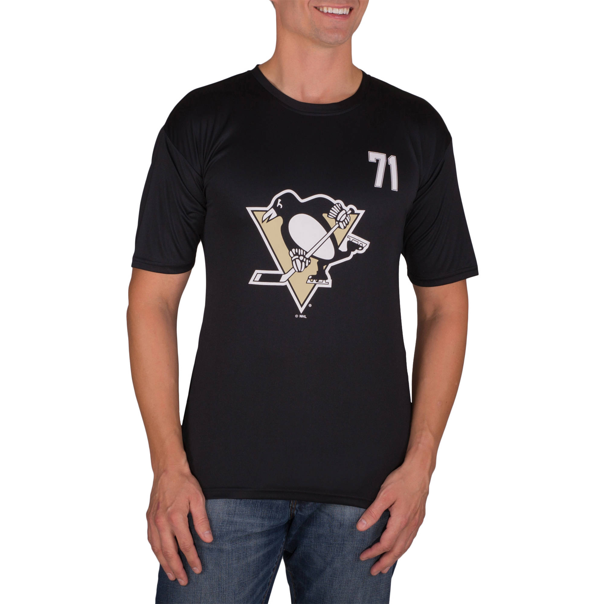 NHL Pittsburgh Penguins Evgeni Malkin 71 Big Men's Athletic-Fit Impact Tee Shirt