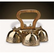 Christian Brands Church Supply GC809 4-Bell Embossed Brass Altar Bells