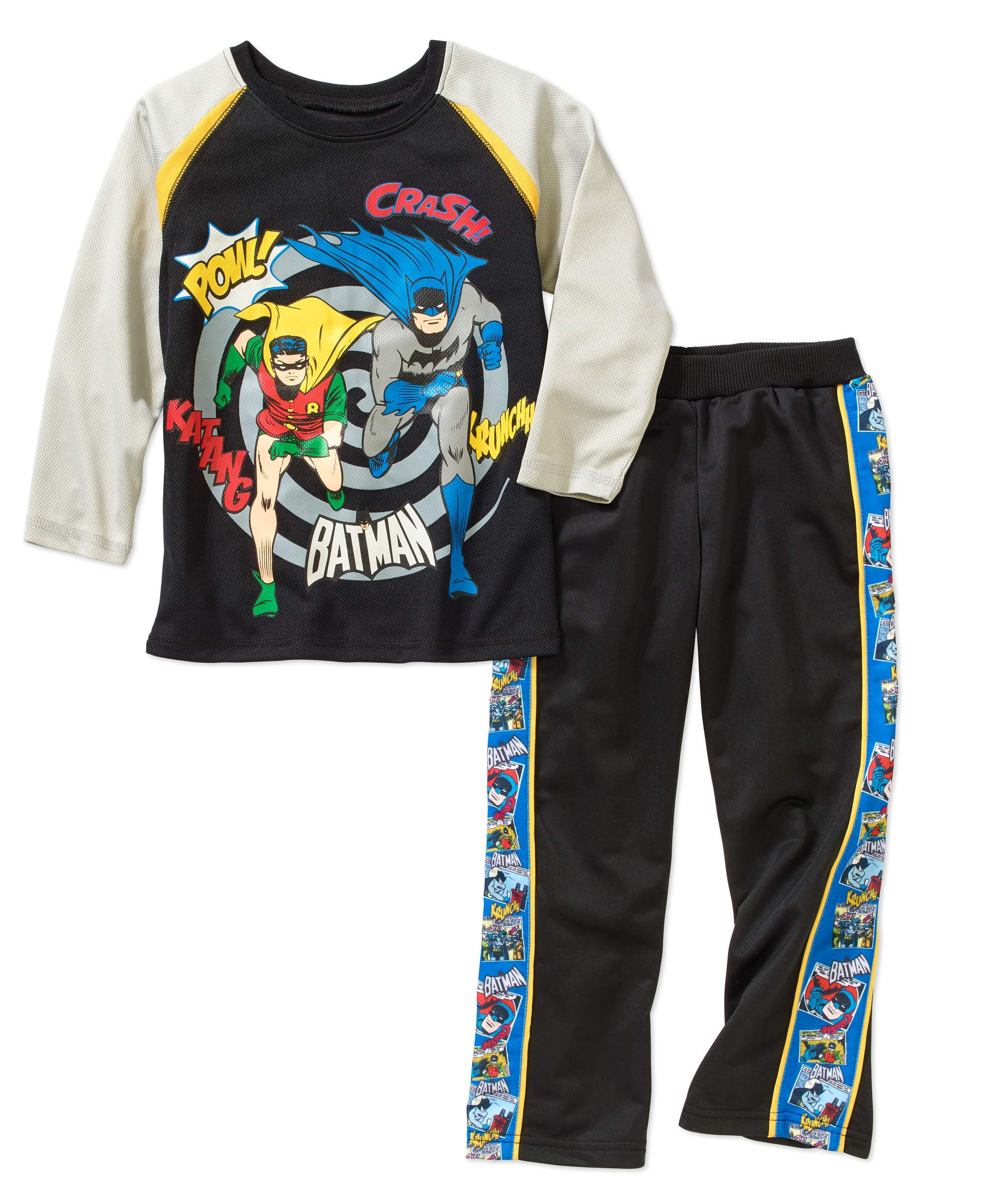 Batman Boys' Long Sleeve Graphic T-Shirt And Sweatpant Set by