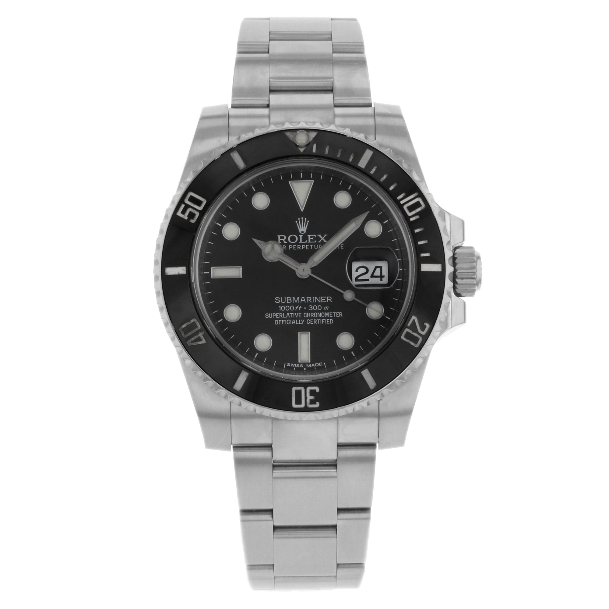 Certified Pre-owned Rolex Submariner 116610LN Steel & Cer...