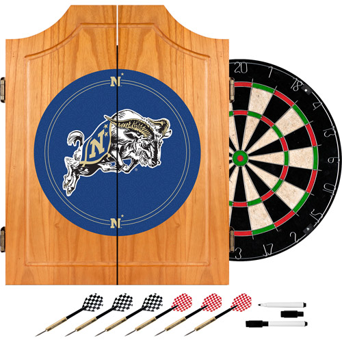 United States Naval Academy Dart Cabinet With Board & Darts