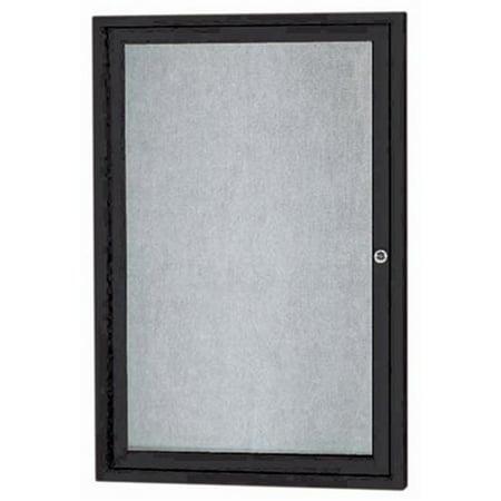 Aarco Products ODCC3624RBK 1-Door Outdoor Enclosed Bulletin Board - Black](Black History Bulletin Board)