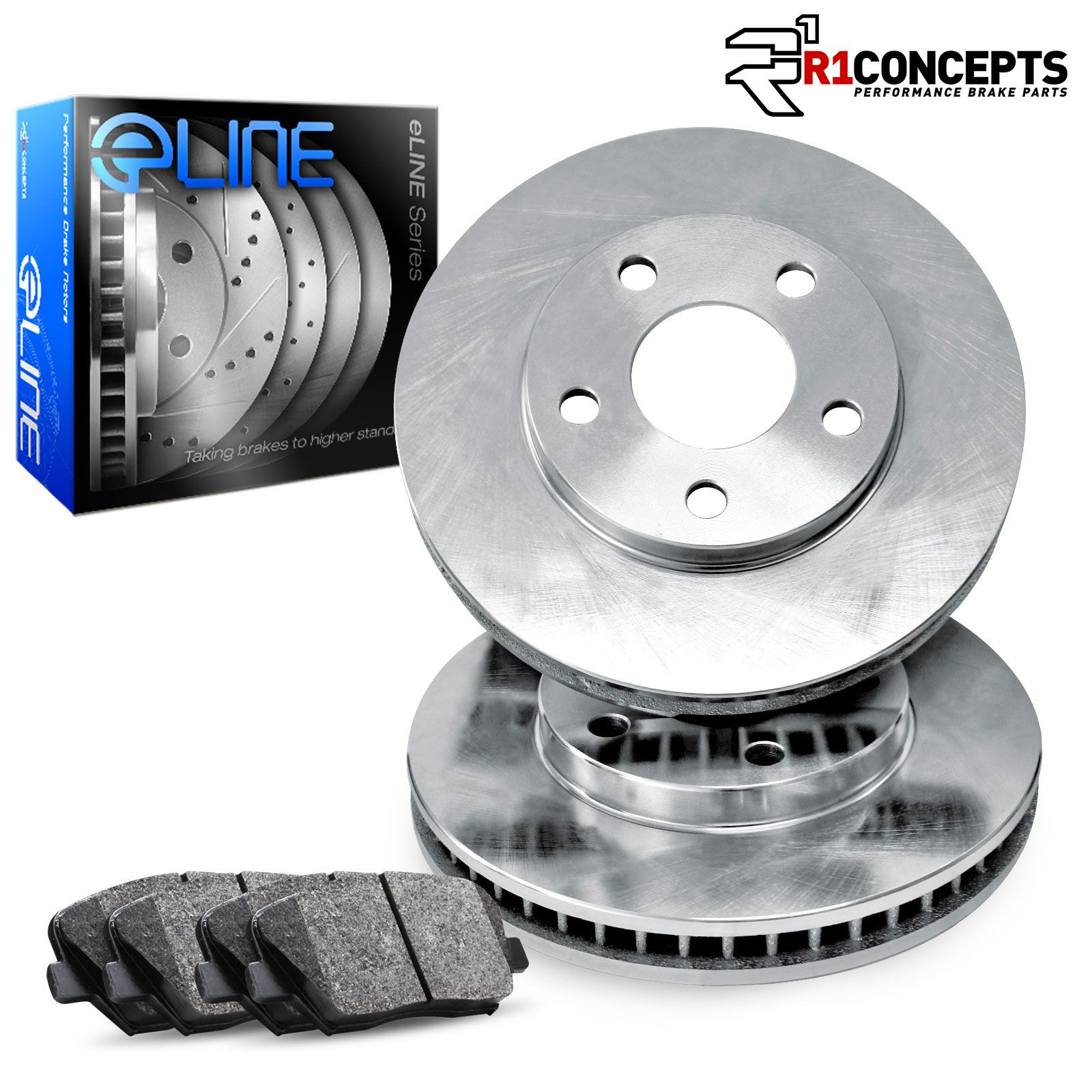 Front Disc Brake Rotors And Semi-Metallic Pads Kit For BMW X5 X6