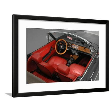 1974 Fiat 124 Spyder Framed Print Wall Art
