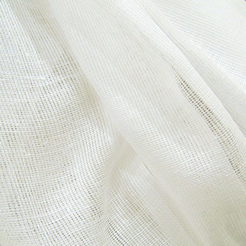 60 Yards White Tobacco Cloth Cotton Fabric Lightweight for Wedding Decor By JCS