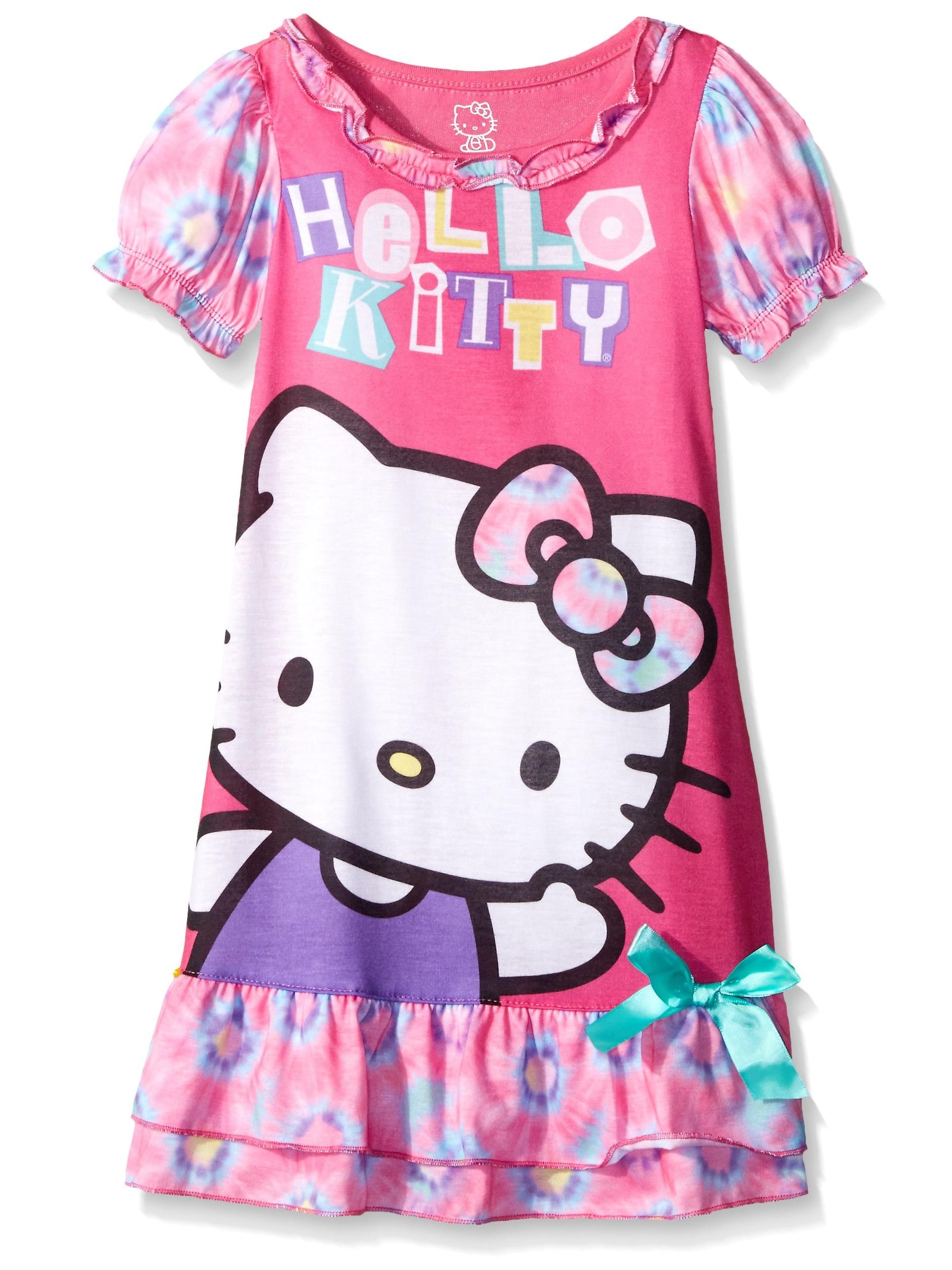 Hello Kitty Girls' Gown, Pink, Size: 3T