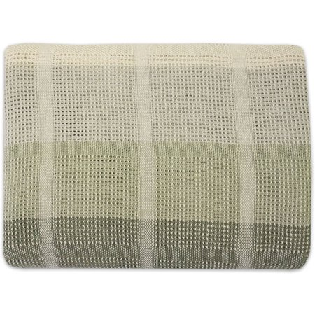 Legacy Soft 100 Percent Cotton Knit All Season Yarn Dye Woven Plaid Blanket