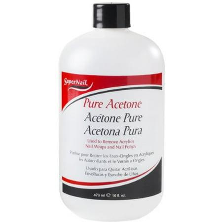 Acetone Free Polish Remover - Super Nail Pure Acetone Polish Remover, 16 Oz