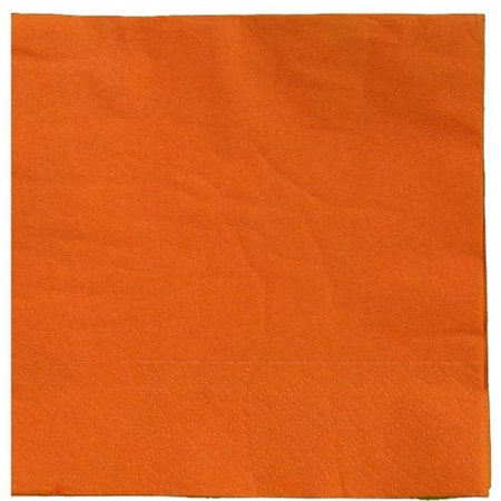 Exquisite Disposable Beverage & Cocktail Napkins - Bulk 100 Count - Orange - High Quality Paper Napkins for Dinners, Luncheons, Birthday Parties, Weddings, Bridal & Baby Showers