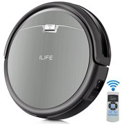 """ILIFE Robot Vacuum Cleaner With Double""""V""""Tangle Free Roll Brush With Max Mode Great For Undercoat Carpet"""