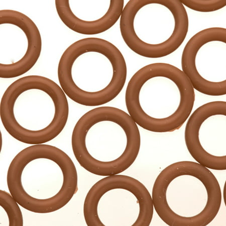 25pcs Blown O-Ring For Flat Licorice Leather 8x2mm