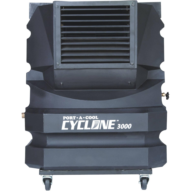 Port-A-Cool Cyclone 3000 Portable Evaporative Cooling Unit, Black