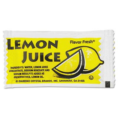 Flavor Fresh Condiment Packets, Lemon Juice, 4 g Packets, 200/Box, Sold as 1 Carton, 200 Each per Carton