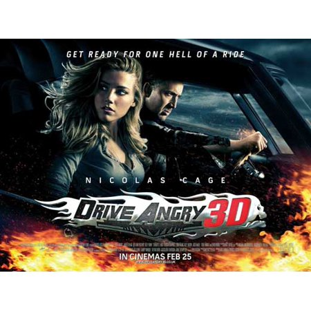 Drive Angry 3D (2011) 11x17 Movie Poster - Anti Halloween Posters Uk