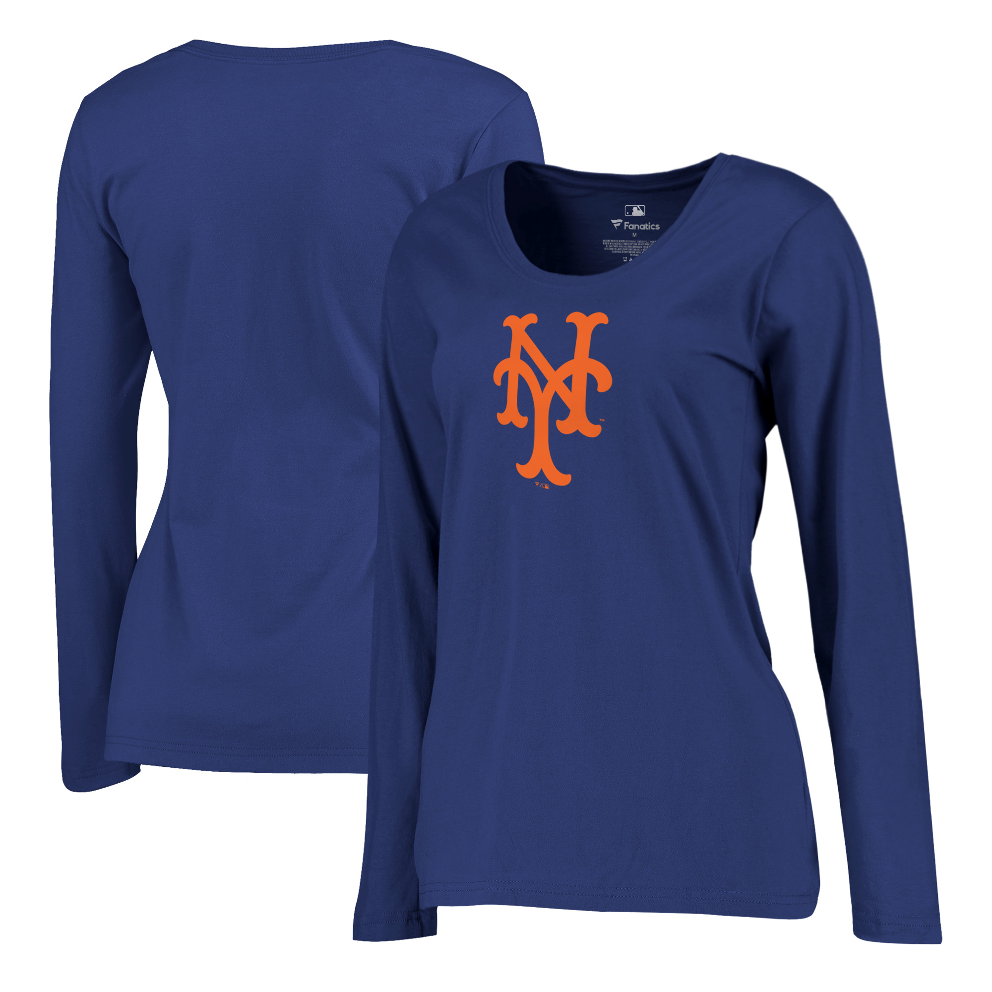 New York Mets Fanatics Branded Women's Plus Size Cooperstown Collection Huntington Long Sleeve T-Shirt - Royal