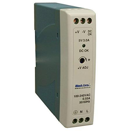 20W SlimLine DIN Rail Power Supply Supply, Single Phase, 85-264VAC/120-370VDC I/p, 5vDC o/p, 3.0A ,3 Year (Single Phase Supply And Three Phase Supply)