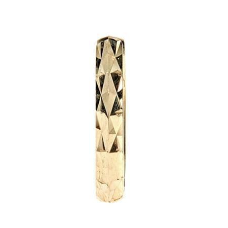 987e544a6b04c Ritastephens - Men's Unisex 14k Yellow Gold Square Tubular Diamond ...
