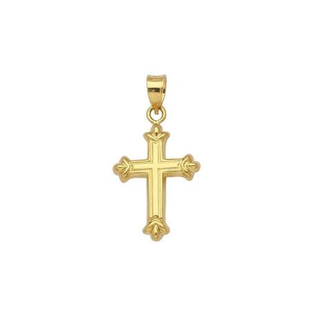 14k Yellow Gold Fleuree Cross Pendant, Pendant Only