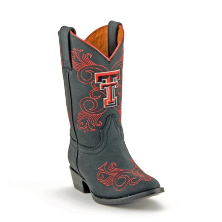 Gameday Girls Black Leather Texas Tech Western Fashion Cowboy Boots (Size 11)