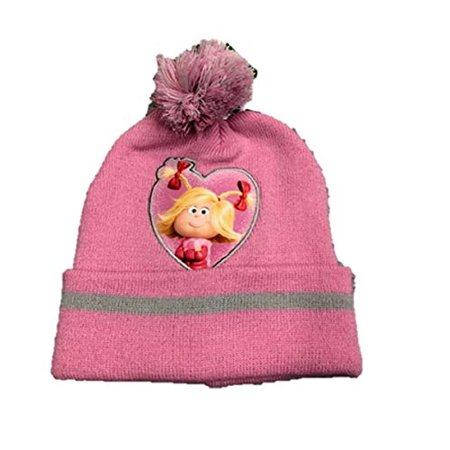 Dr Suess Grinch who Stole Christmas Cindy Lou who Hat Beanie w/Pom pom - Cindy Lou Who Outfit