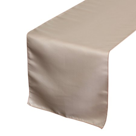 Your Chair Covers - 14 x 108 inch L'amour Satin Table Runner Blush for Wedding, Party, Birthday, Patio, etc.