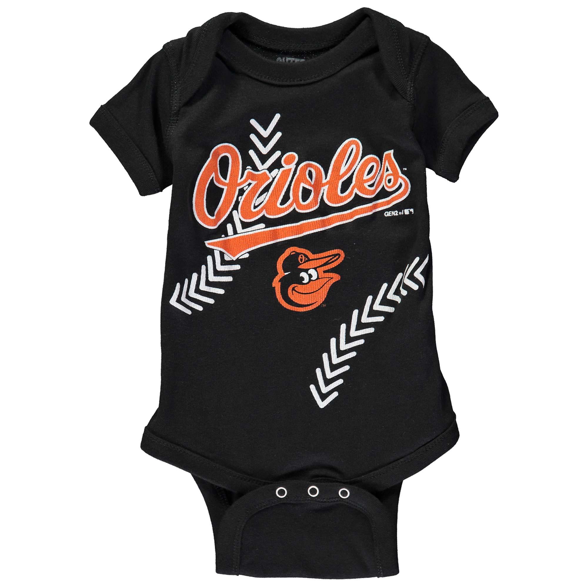Baltimore Orioles Newborn & Infant Fan-tastic Baseball Bodysuit - Black